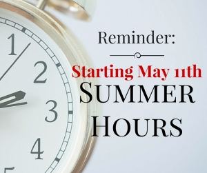 KF Summer hours